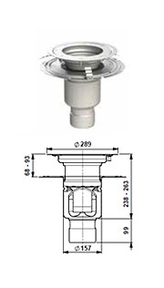 gully 157 adjustable height bonding flange round